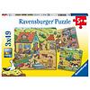 Ravensburger De boerderij - 3 puzzels van 49 stukjes
