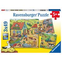 thumb-De boerderij - 3 puzzels van 49 stukjes-1