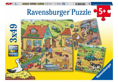 Ravensburger La ferme - 3 x 49 pièces