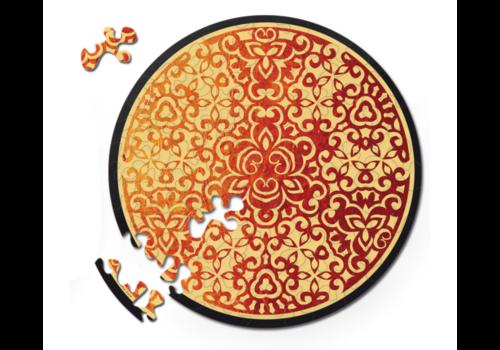 Curiosi Dubbelzijdige Puzzel in HOUT - Vuur - 88 stukjes