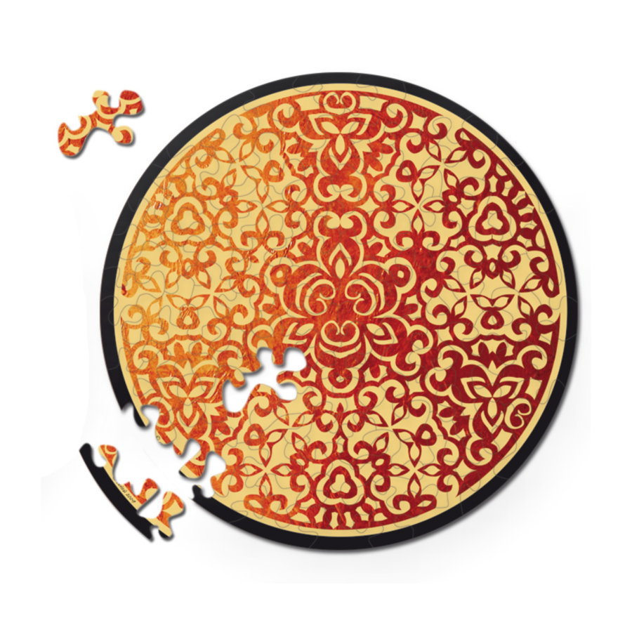 Puzzle Double Feu - Puzzle Ronde Recto-Verso en Bois - 88 pièces-1