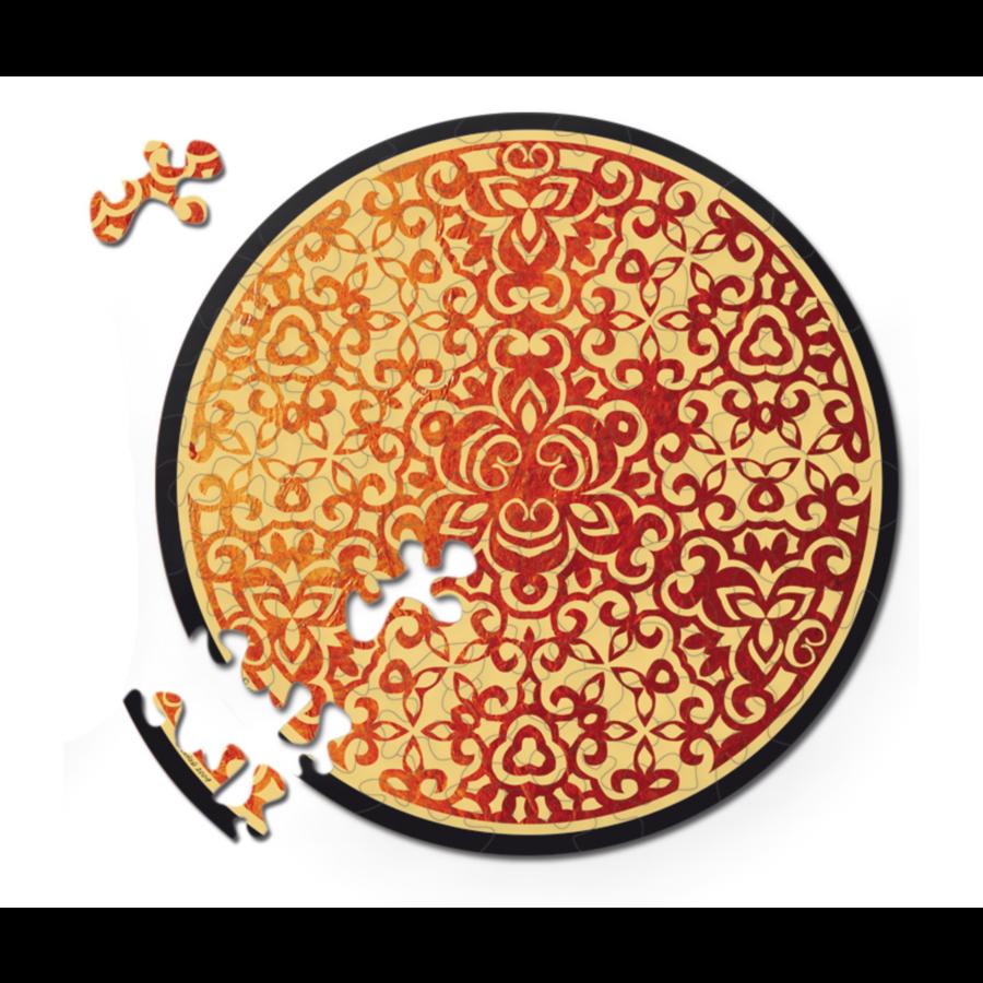Vuur - Dubbelzijdige Ronde puzzel in hout - 88 stukjes-1