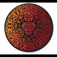 thumb-Vuur - Dubbelzijdige Ronde puzzel in hout - 88 stukjes-3
