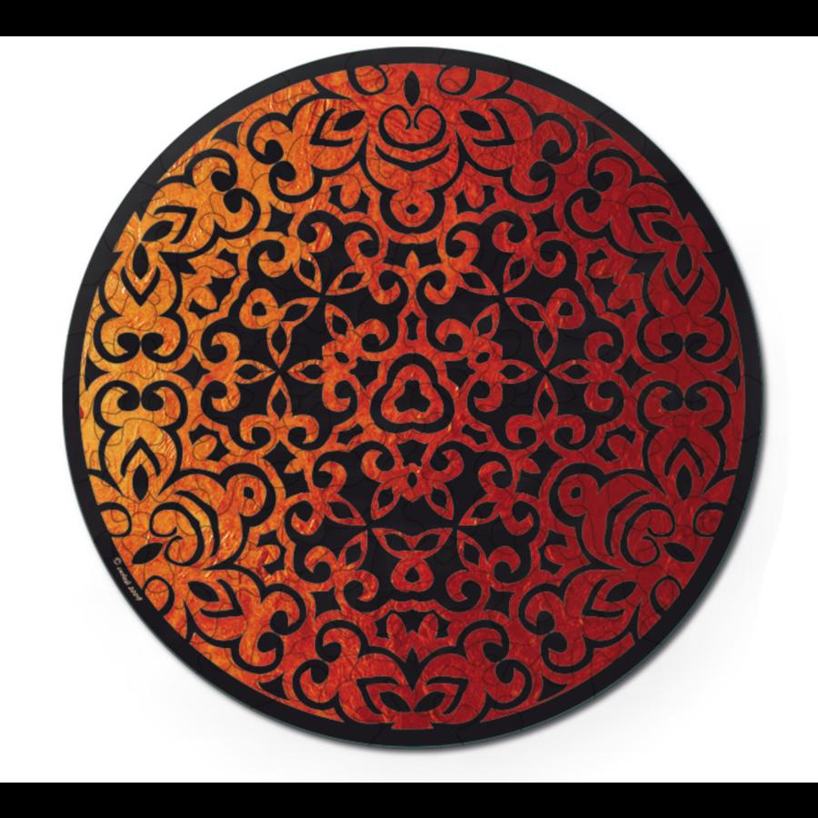 Vuur - Dubbelzijdige Ronde puzzel in hout - 88 stukjes-3