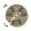 Curiosi Zand - Dubbelzijdige Ronde puzzel in hout - 88 stukjes
