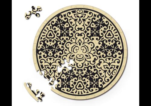 Curiosi Dubbelzijdige Puzzel in HOUT - Zand - 88 stukjes