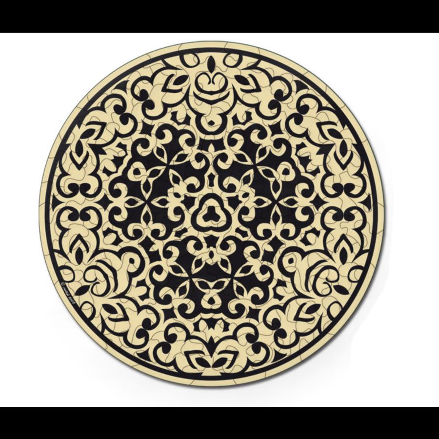 Zand - Dubbelzijdige Ronde puzzel in hout - 88 stukjes-2