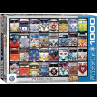 VW Bus - Cool Faces - 1000 pieces - jigsaw puzzle