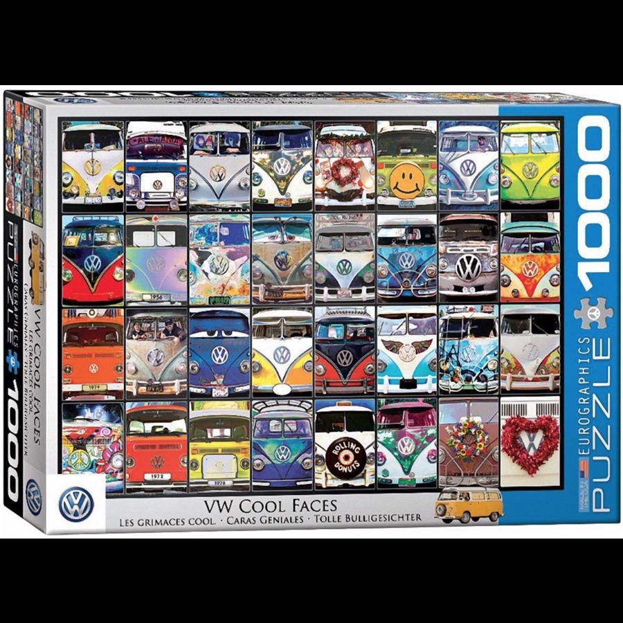 VW Bus - Cool Faces - 1000 pieces - jigsaw puzzle-1