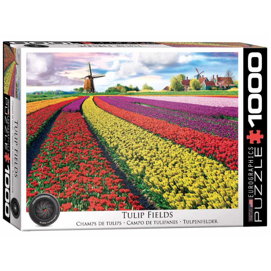 Tulip Field - 1000 pieces - jigsaw puzzle-1