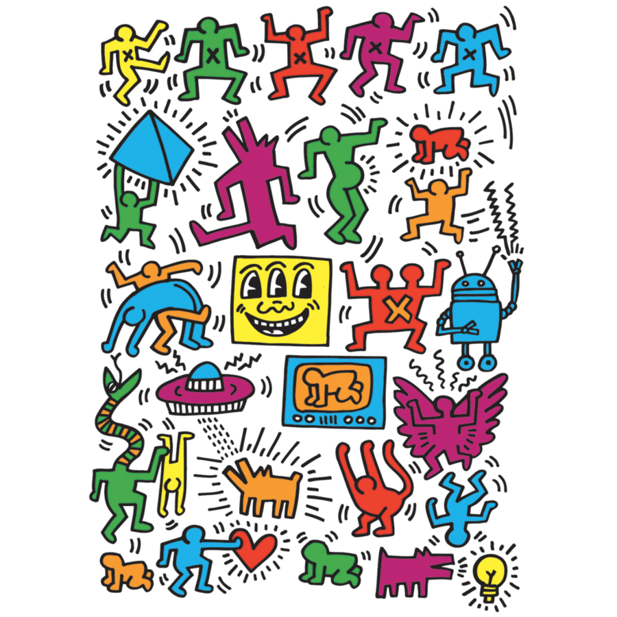 Keith Haring - Collage - 1000 pieces - jigsaw puzzle-1