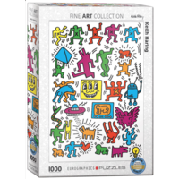 thumb-Keith Haring - Collage - puzzle de 1000 pièces-2