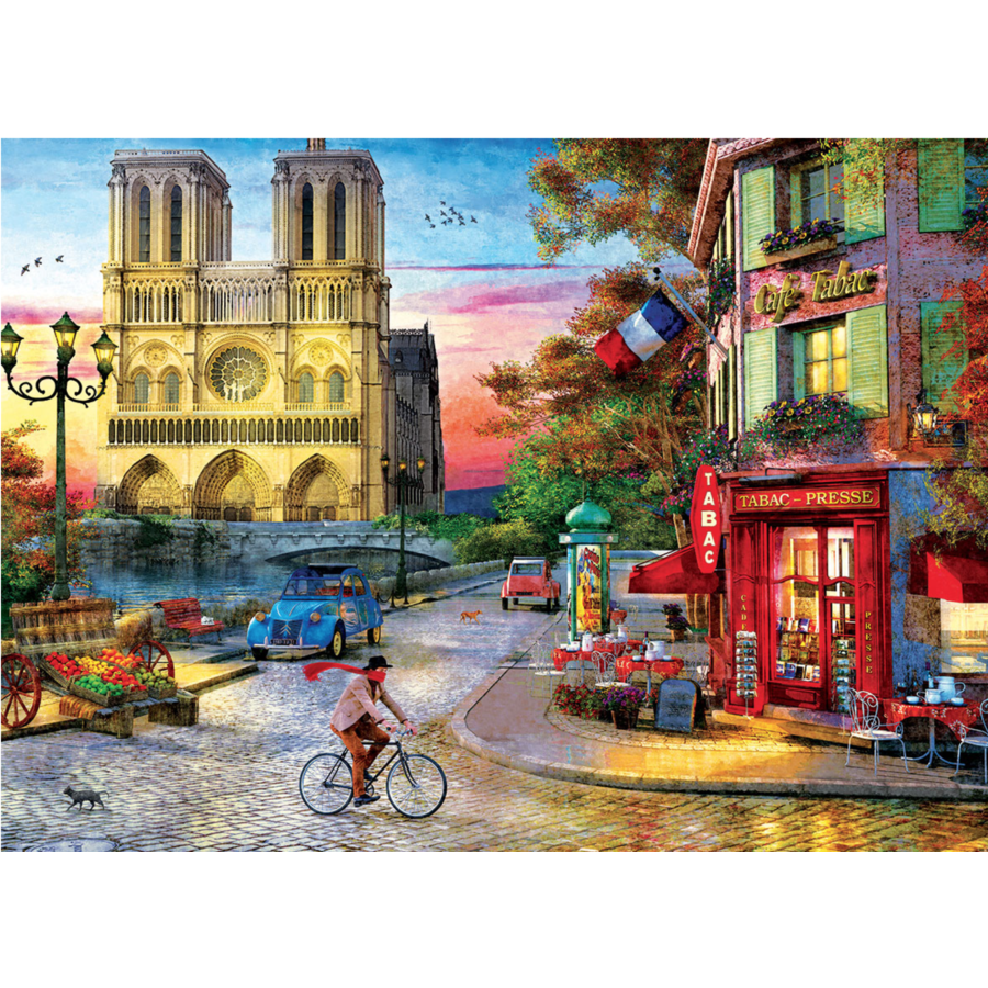 Sunset at the Notre Dame in Paris - 1000 pieces - jigsaw puzzle-2