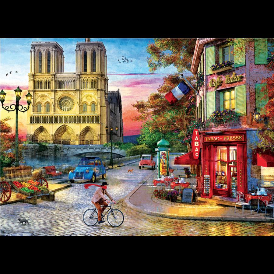 Zonsondergang bij de Notre Dame de Paris - puzzel van 1000 stukjes-2