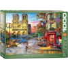 Eurographics Puzzles Zonsondergang bij de Notre Dame de Paris - puzzel van 1000 stukjes