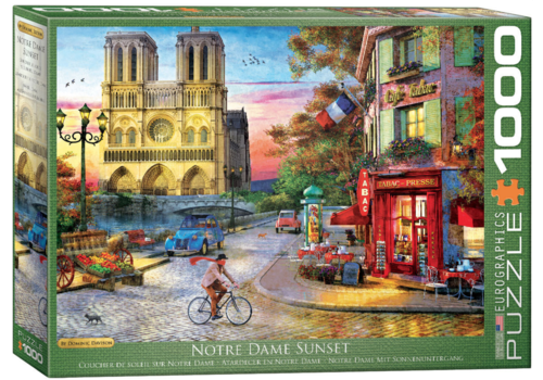 Sunset at the Notre Dame in Paris - 1000 pieces