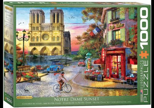 Zonsondergang bij de Notre Dame de Paris - 1000 stukjes