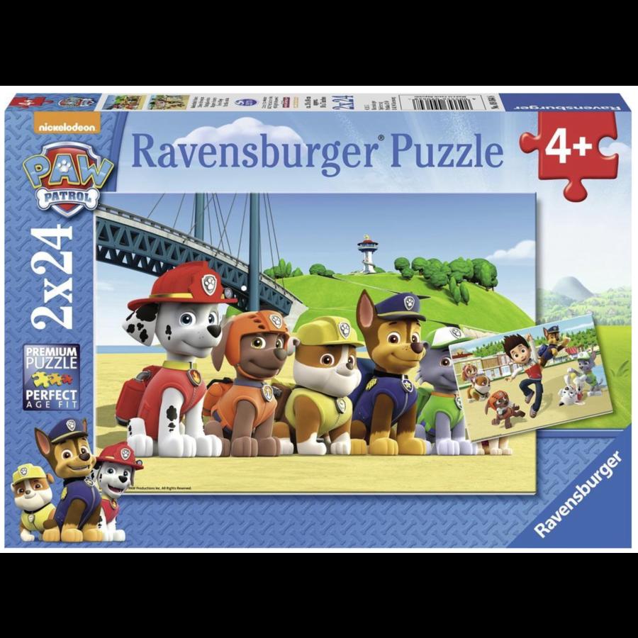 Paw Patrol - 2 puzzels van 24 stukjes-1