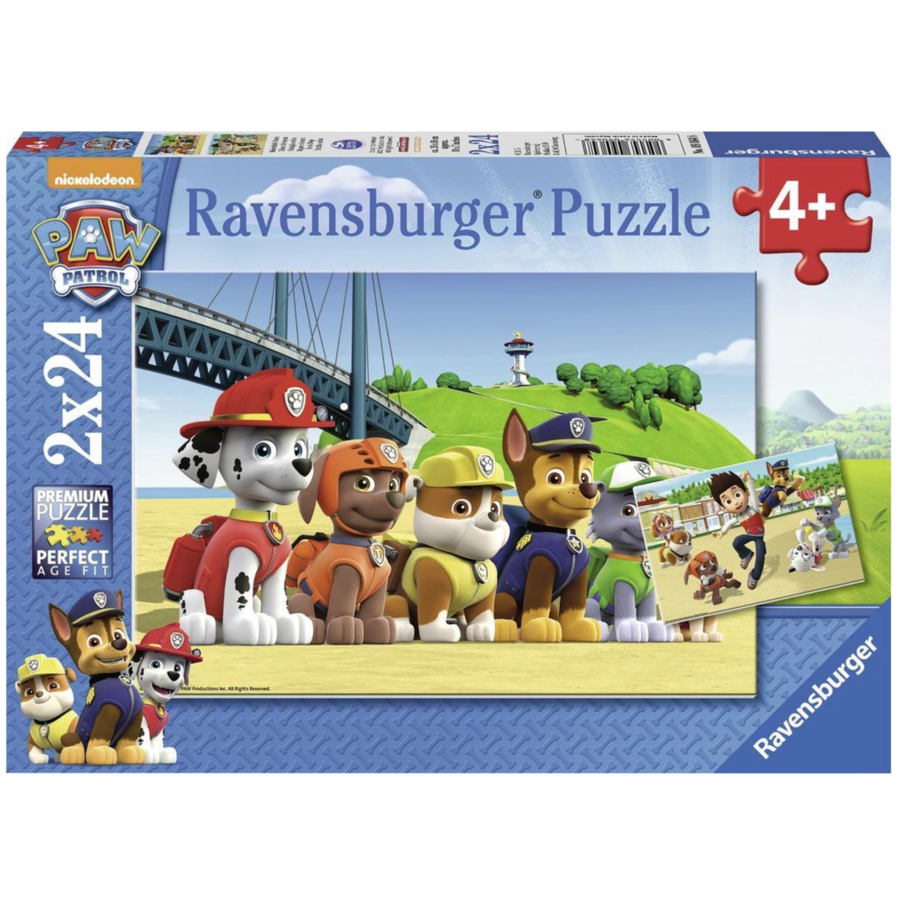 Paw Patrol - 2 puzzles of 24 pieces-1