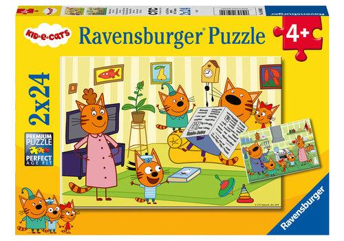 Ravensburger Kid-e-Cats - 2 x 24 stukjes