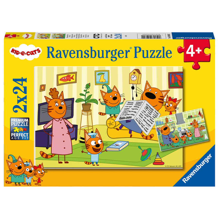 Kid-e-Cats - 2 puzzles of 24 pieces-1