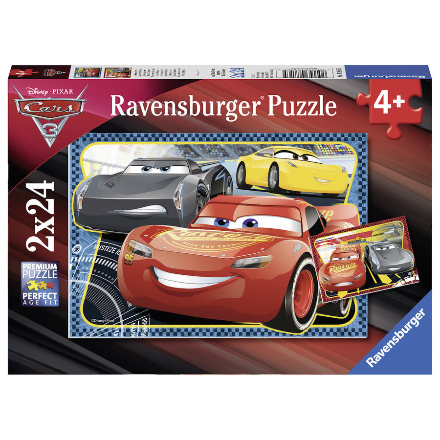 Cars - 2 puzzles of 24 pieces-1