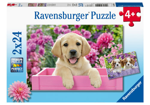 Ravensburger Hondjes in de mand - 2 x 24 stukjes
