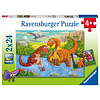Ravensburger Happy dinosaurs - 2 puzzles of 24 pieces
