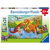 Ravensburger Vrolijke dino's - 2 puzzels van 24 stukjes