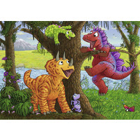 thumb-Happy dinosaurs - 2 puzzles of 24 pieces-2