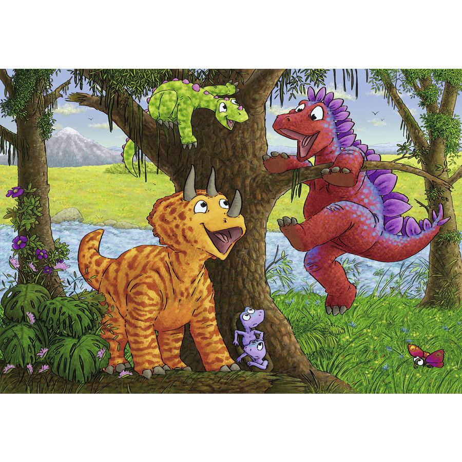 Happy dinosaurs - 2 puzzles of 24 pieces-2