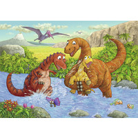 thumb-Happy dinosaurs - 2 puzzles of 24 pieces-3