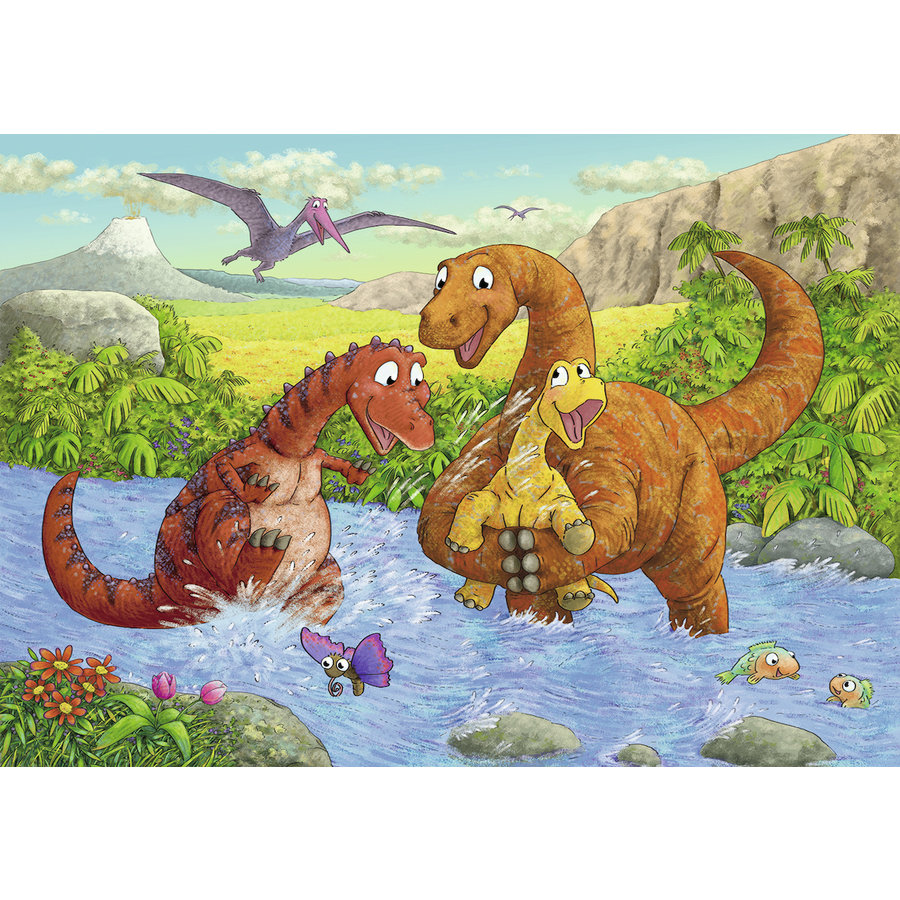 Happy dinosaurs - 2 puzzles of 24 pieces-3