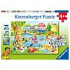 Ravensburger Plezier aan het meer - 2 puzzels van 24 stukjes