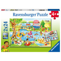 thumb-Fun at the lake - 2 puzzles of 24 pieces-1