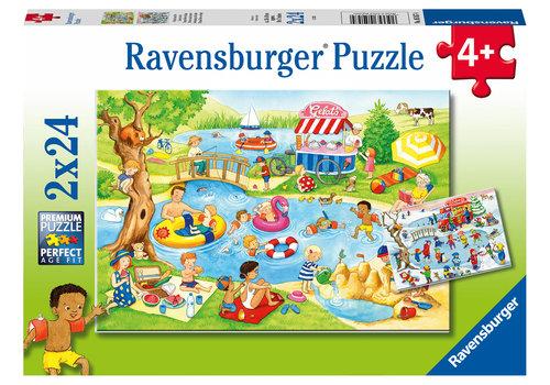 Ravensburger Fun at the lake - 2 x 24 pieces