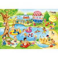 thumb-Fun at the lake - 2 puzzles of 24 pieces-3