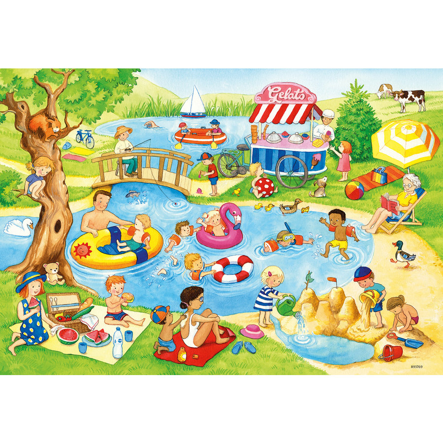 Fun at the lake - 2 puzzles of 24 pieces-3
