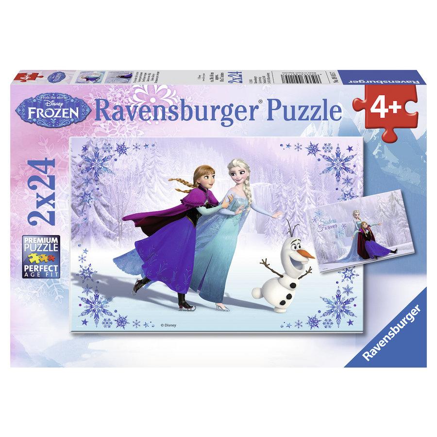 Frozen - 2 puzzles of 24 pieces-1