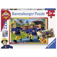 thumb-Brandweerman Sam - 2 puzzels van 12 stukjes-1