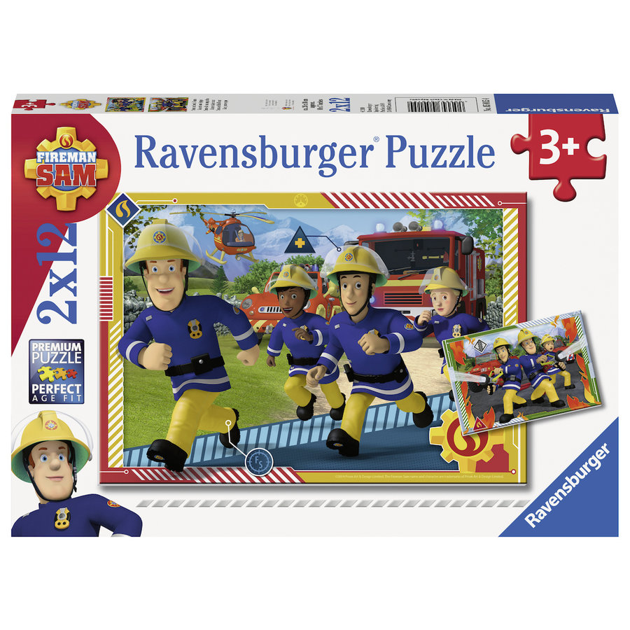 Sam and his team - 2 puzzles of 12 pieces-1