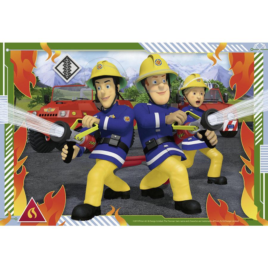 Brandweerman Sam - 2 puzzels van 12 stukjes-2