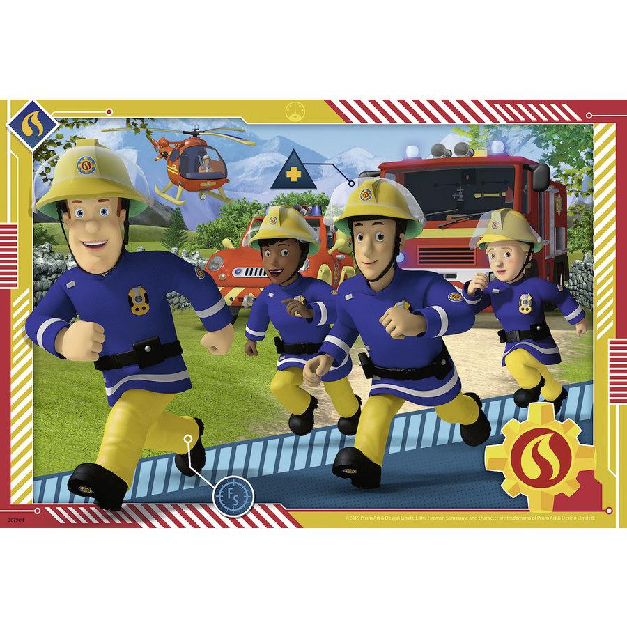 Brandweerman Sam - 2 puzzels van 12 stukjes-3