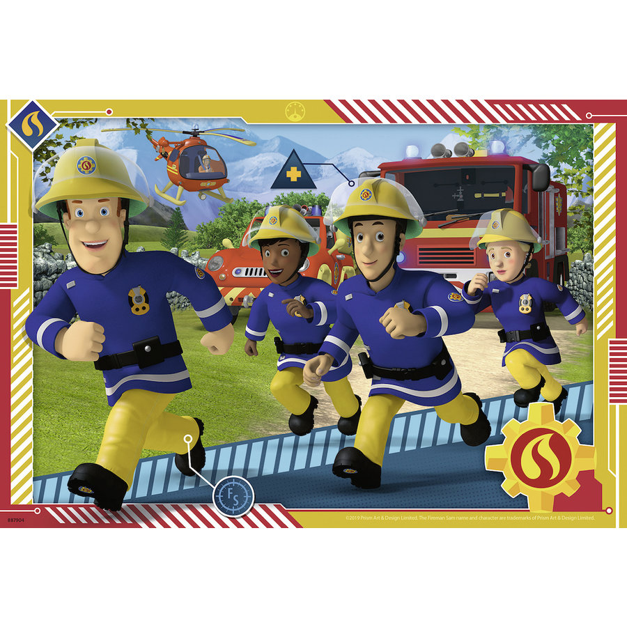 Sam et ses équipe - 2 puzzles de 12 pièces-3