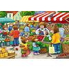 Ravensburger In de winkel en op de markt - 2 puzzels van 12 stukjes