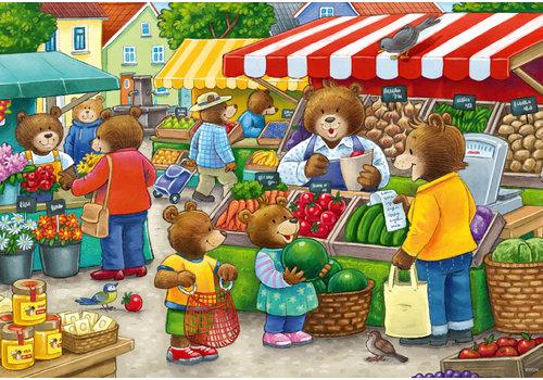 Ravensburger In de winkel en op de markt - 2 x 12 stukjes