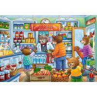 thumb-Dans le magasin et sur le marché - 2 puzzles de 12 pièces-2
