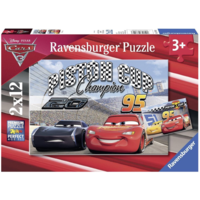 thumb-Cars - Piston Cup - 2 puzzels van 12 stukjes-1