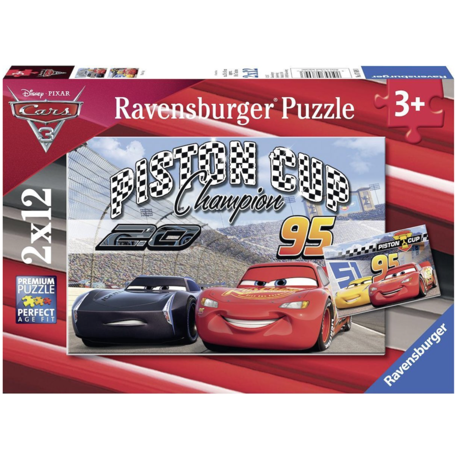 Cars - Piston Cup - 2 puzzles of 12 pieces-1