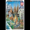 Educa Miniatuur puzzel - Gaudi Collage - 1000 stukjes